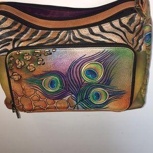 Anushcka Peacock Handpainted Bag